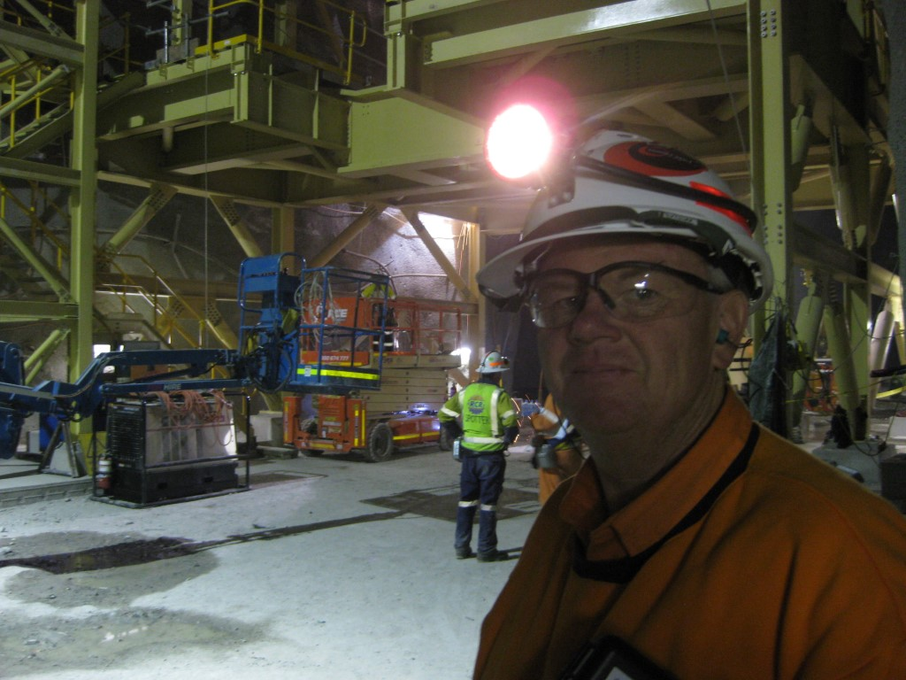 Greg conducting a underground workplace audit